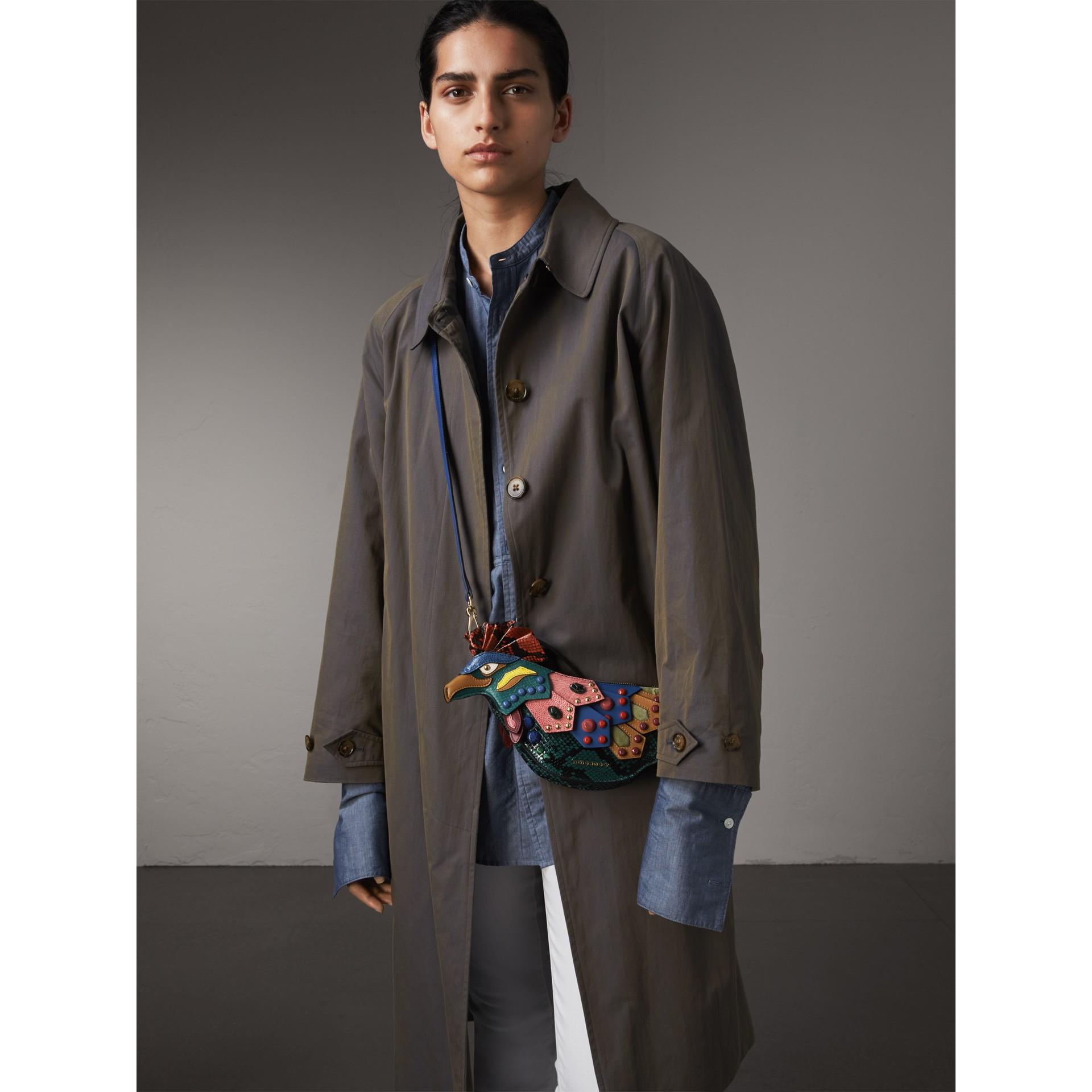 The Falcon – Crossbody-Tasche aus Natternleder und Leder (Blaugrün) - Damen | Burberry - Galerie-Bild 3