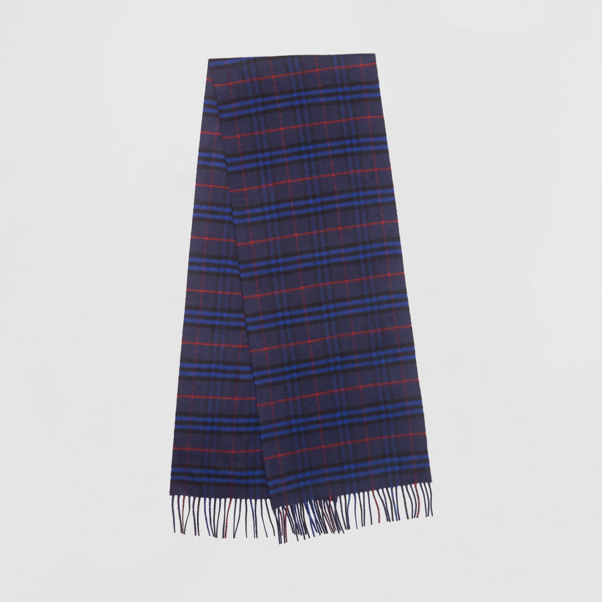 The Classic Vintage Check Cashmere Scarf in Bright Navy | Burberry - gallery image 0