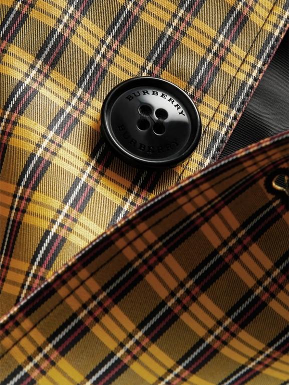 Paletot en coton mélangé à micro-motif check (Jaune Safran Vif) - Garçon | Burberry - cell image 1
