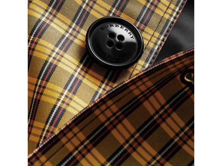 Shrunken Check Cotton Blend Car Coat in Bright Saffron Yellow - Boy | Burberry United Kingdom - cell image 1