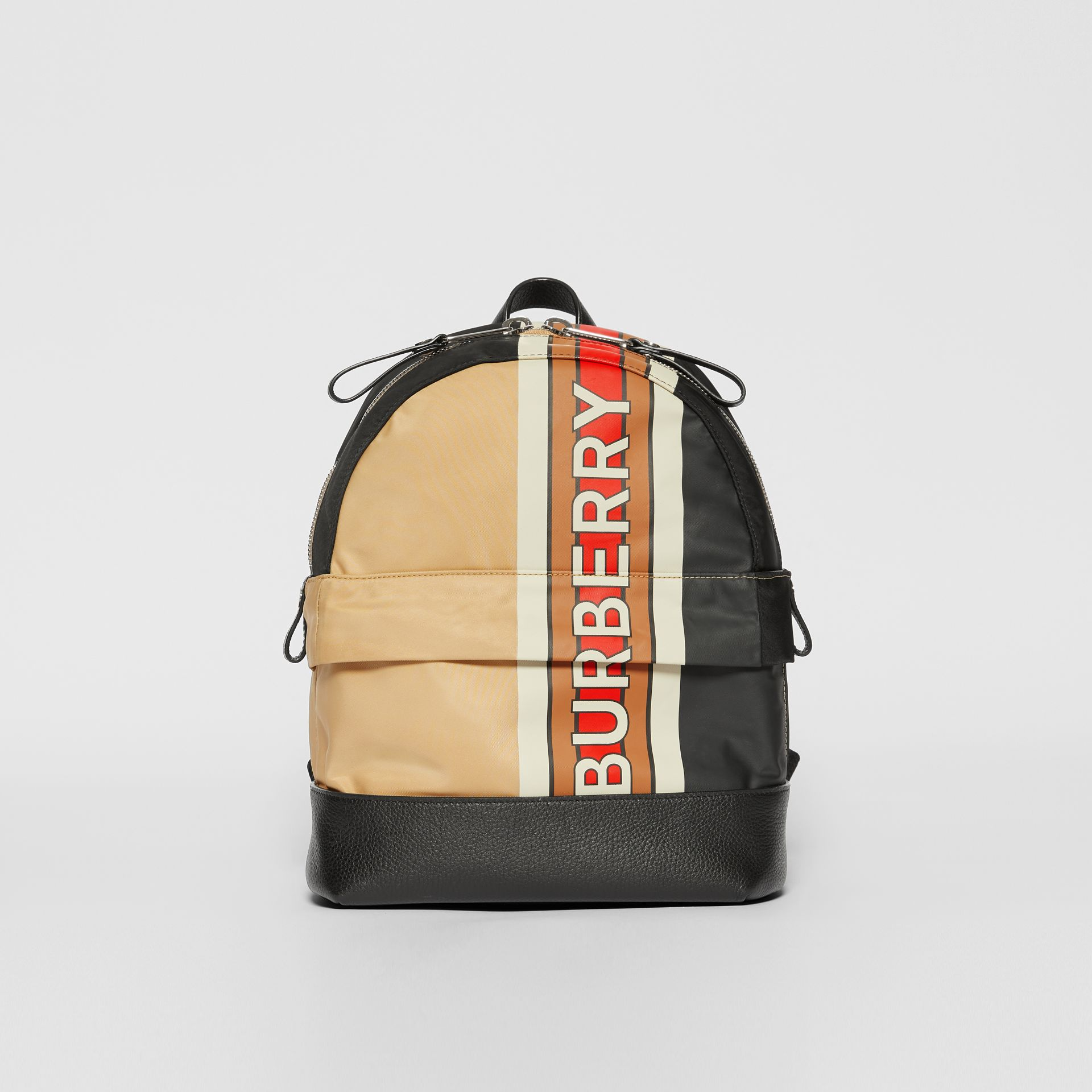 Logo Print Striped ECONYL® Backpack in Archive Beige - Children | Burberry United Kingdom - gallery image 0
