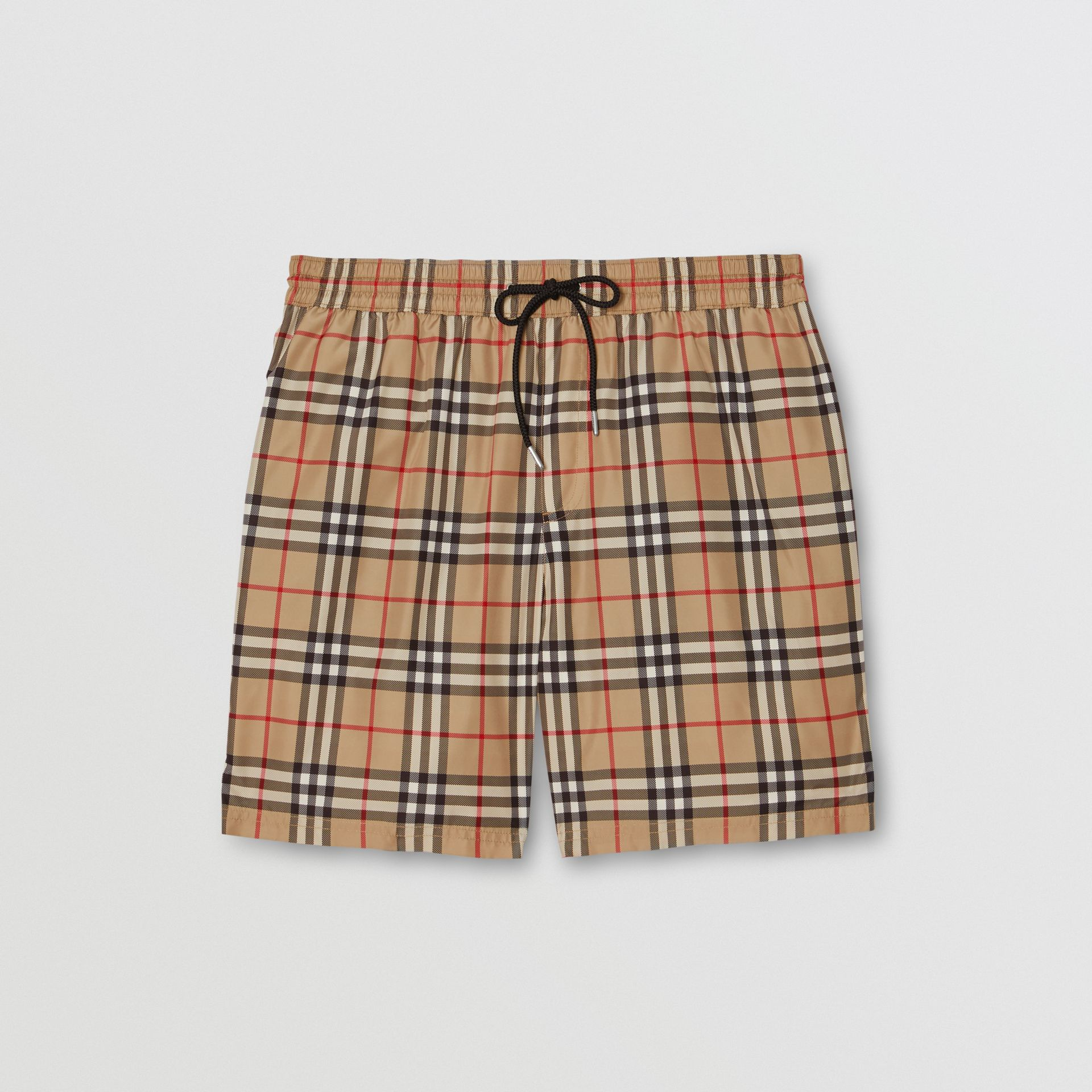 Vintage Check Drawcord Swim Shorts in Archive Beige - Men | Burberry United States - gallery image 2