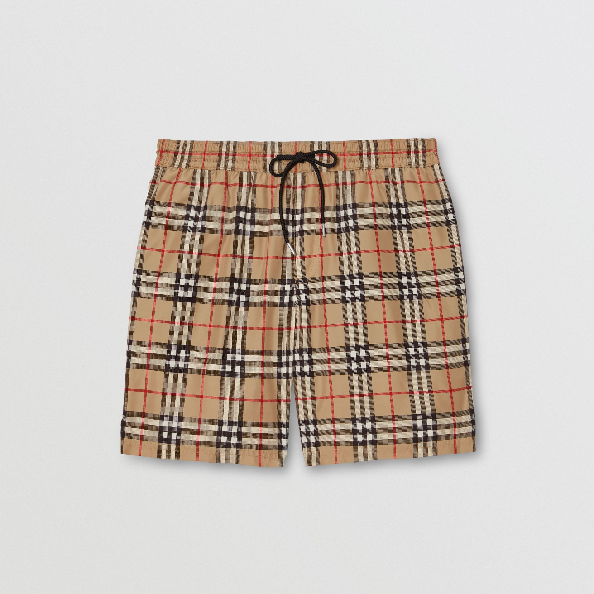 Vintage Check Drawcord Swim Shorts in Archive Beige - Men | Burberry - 3