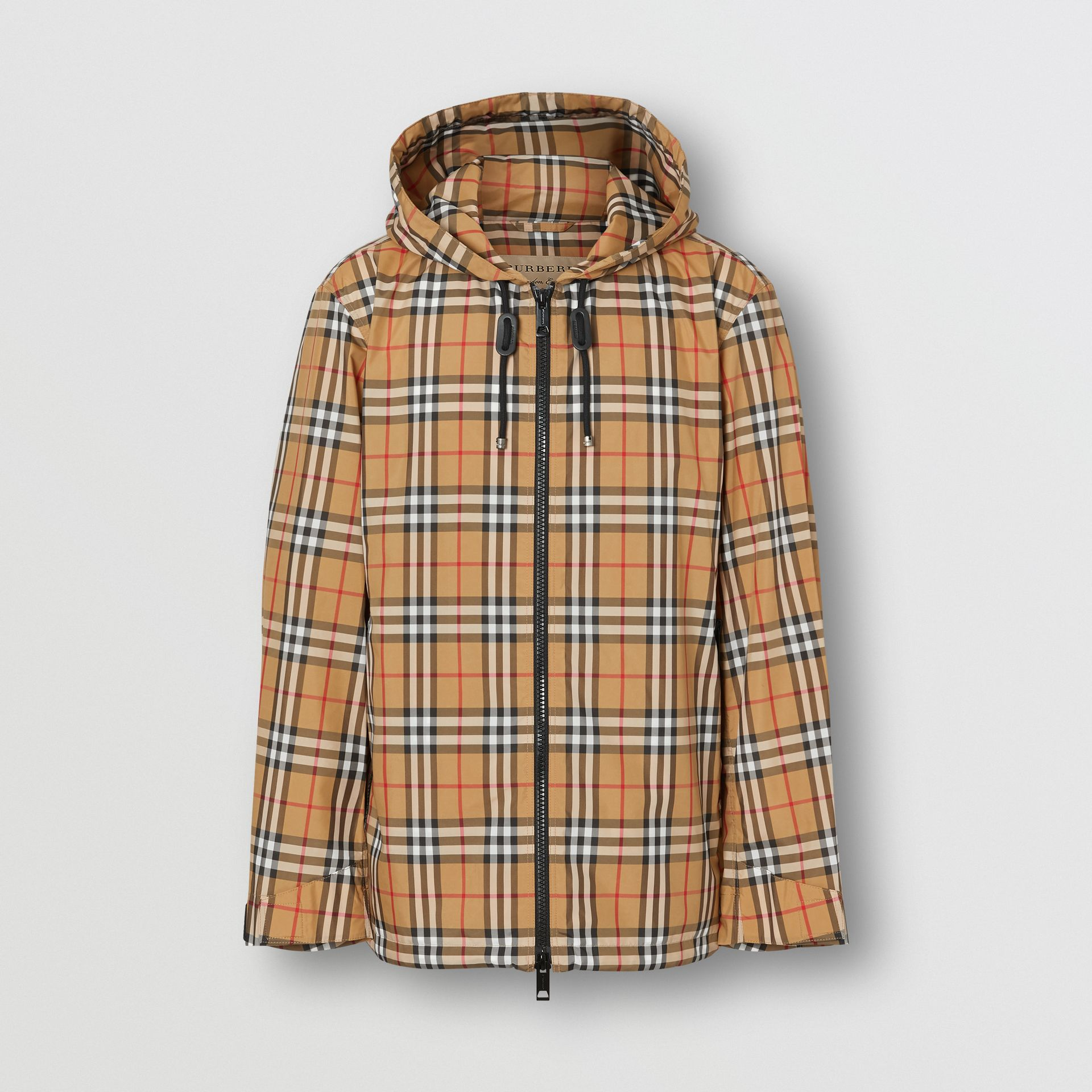 Vintage Check Lightweight Hooded Jacket in Antique Yellow - Men | Burberry Singapore - gallery image 3