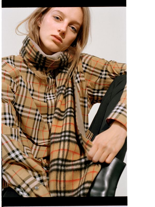 Hebe creates a statement by doubling up on Vintage check.