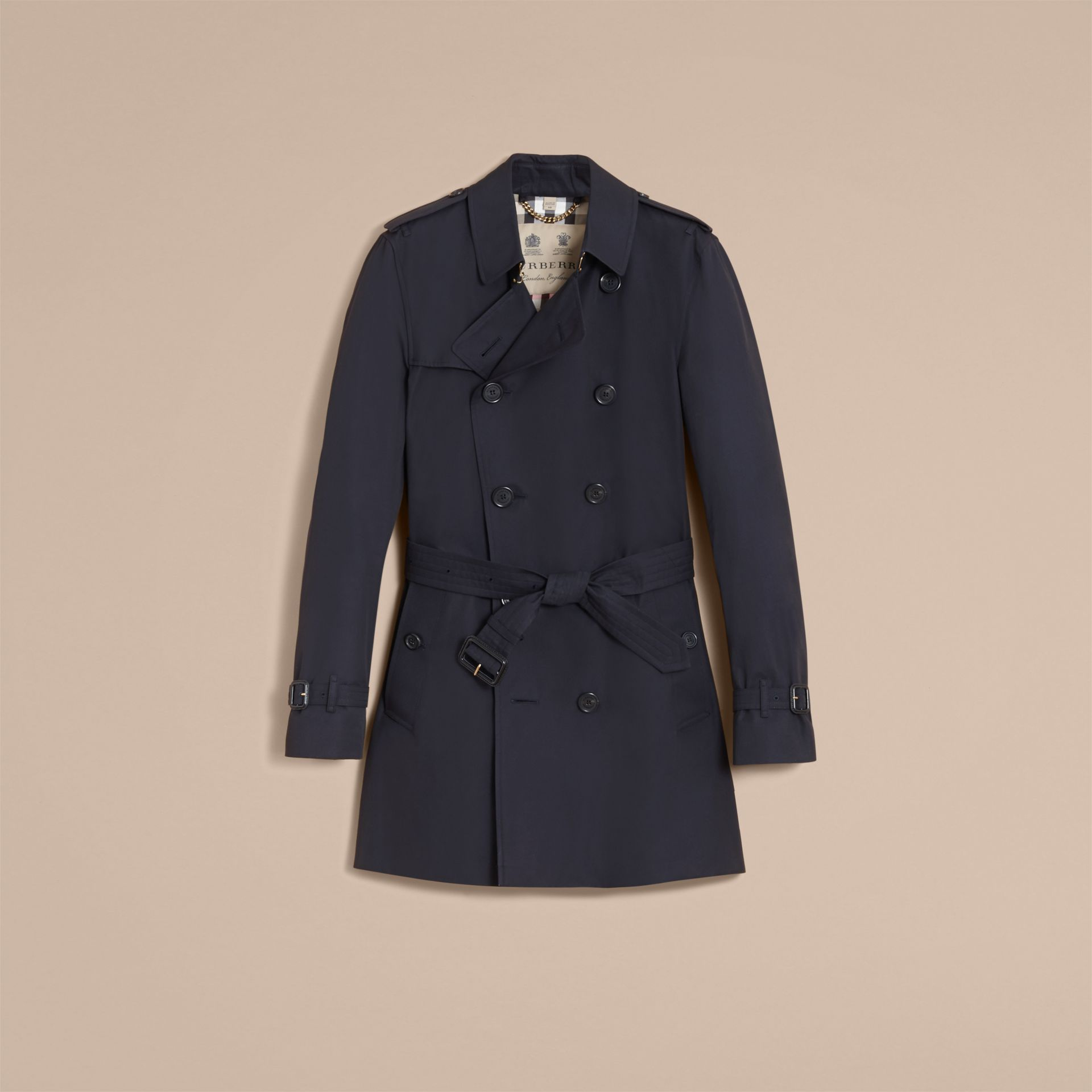 Navy The Kensington – Mid-length Heritage Trench Coat Navy - gallery image 5