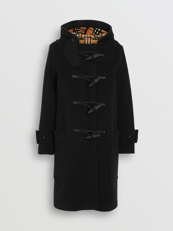 Wool Blend Duffle Coat in Black - Women | Burberry Australia - cell image 3