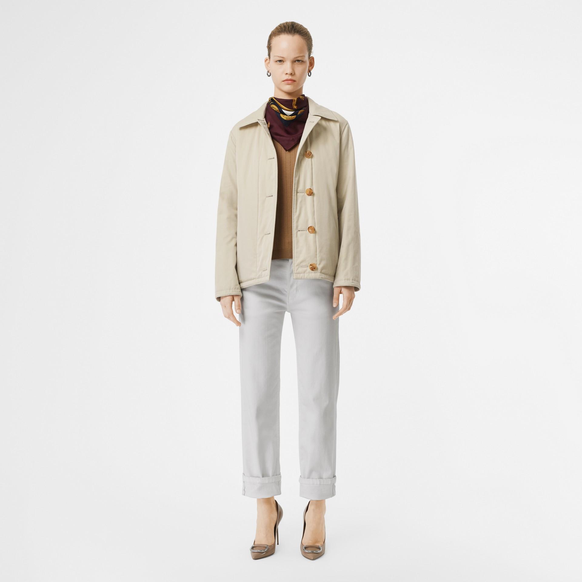 Giacca reversibile in cotone trapuntato (Bianco Naturale) - Donna | Burberry - immagine della galleria 0