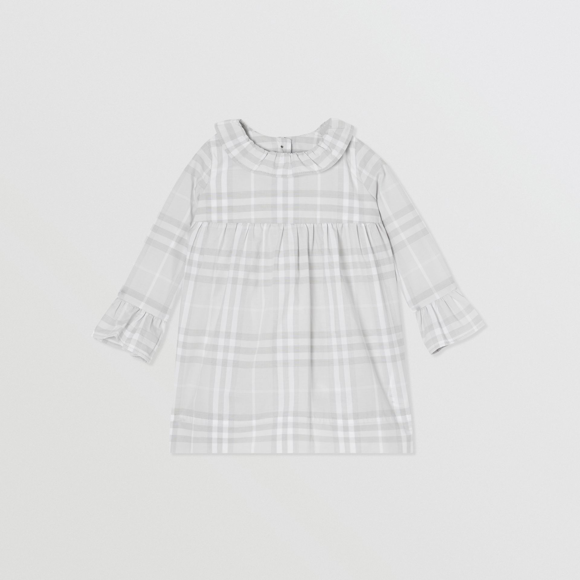 Long-sleeve Vintage Check Cotton Dress in Pale Grey - Children | Burberry - gallery image 0