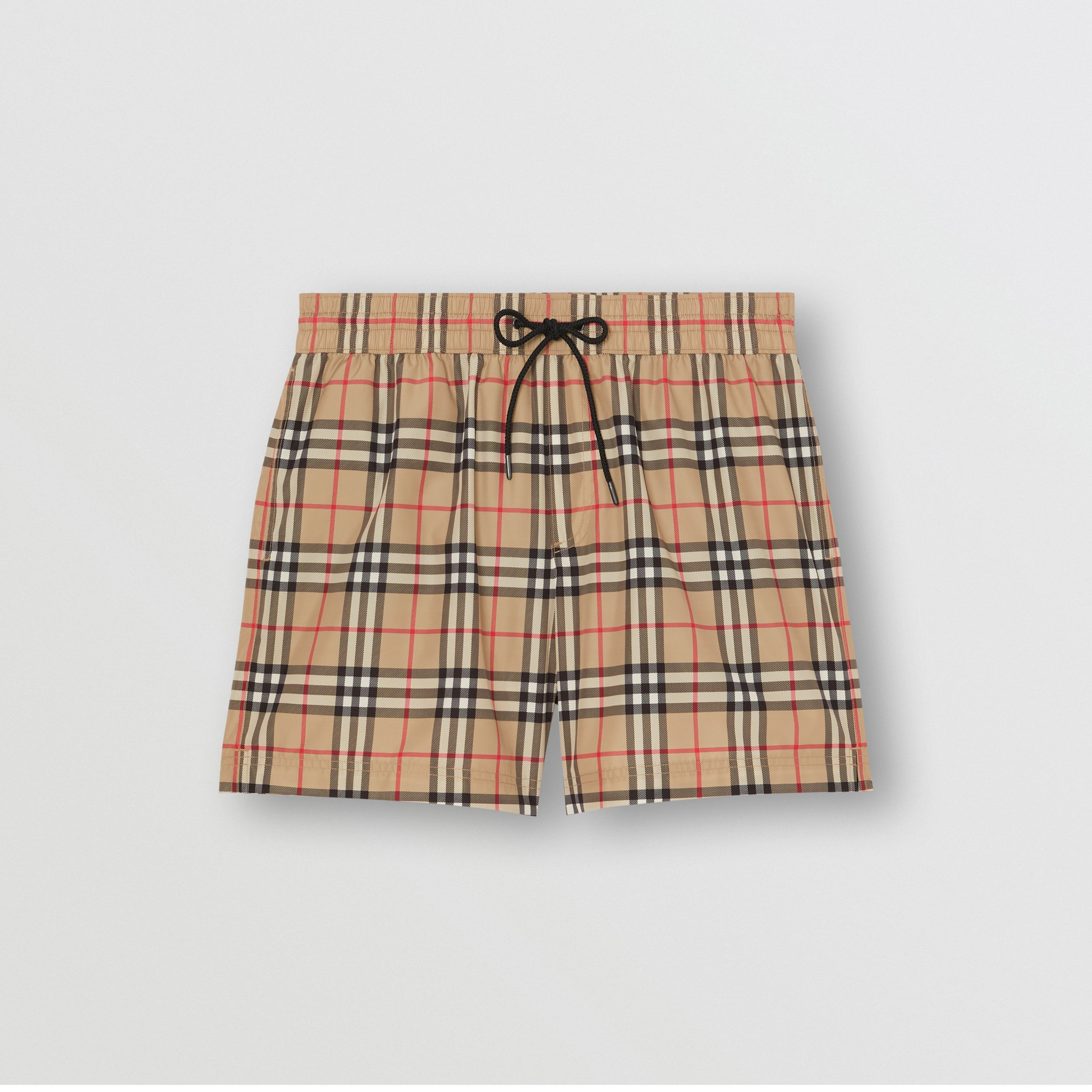 Vintage Check Drawcord Swim Shorts in Archive Beige - Men | Burberry United States - 3