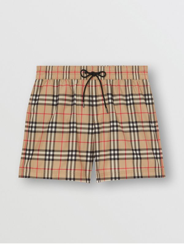 Vintage Check Drawcord Swim Shorts in Archive Beige | Burberry Hong Kong S.A.R - cell image 2
