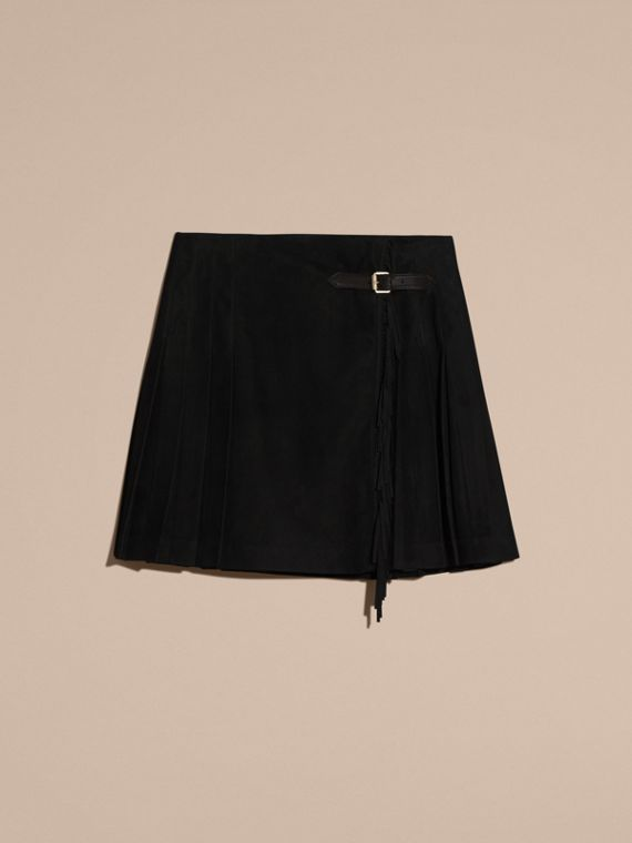 Black Fringed Suede Kilt - cell image 3