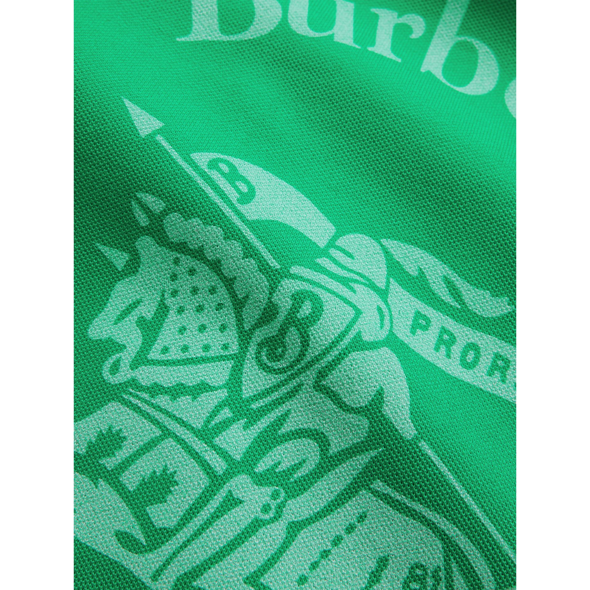 Large Archive Logo Jersey Shopper in Bright Green | Burberry - gallery image 1