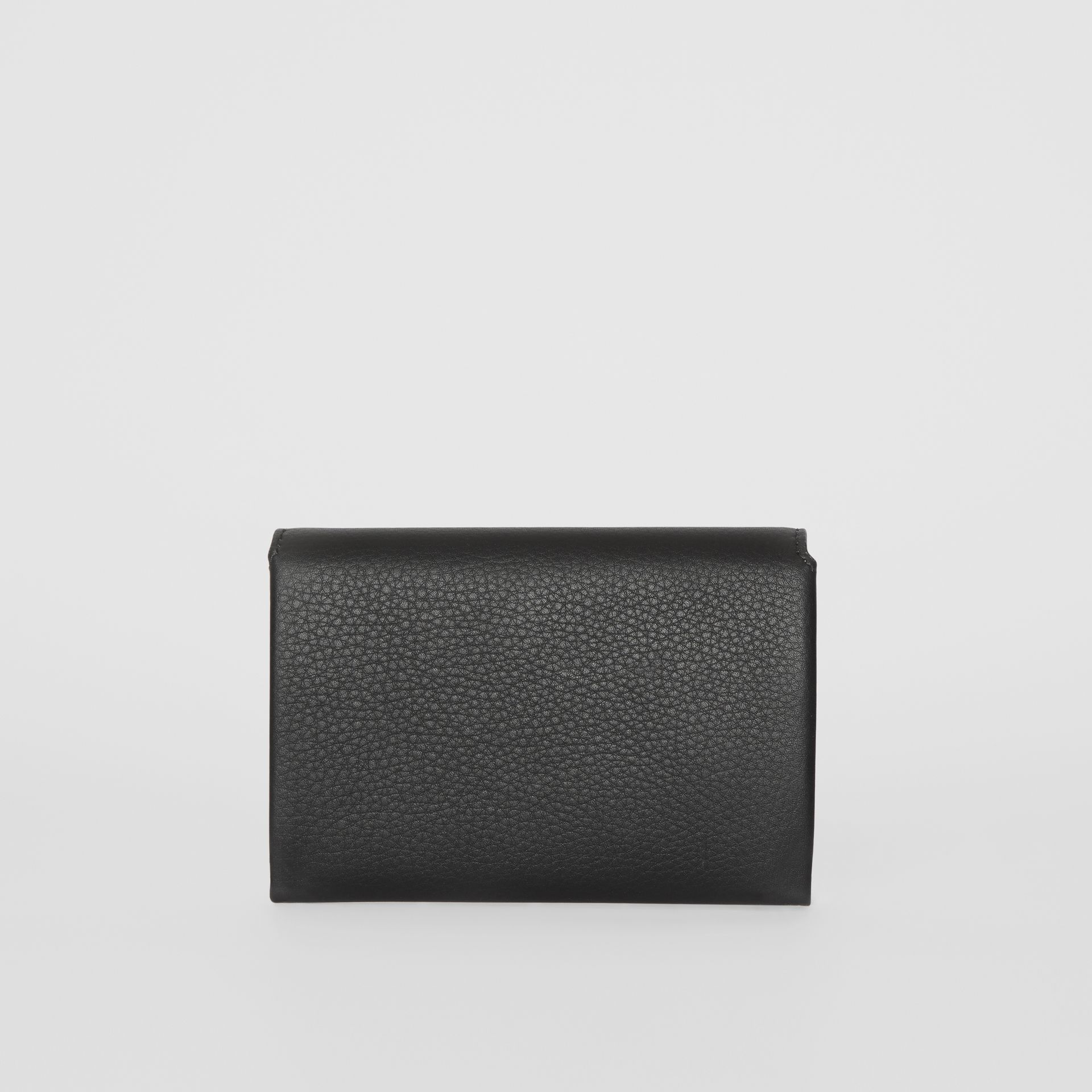 Triple Stud Leather Folding Wallet in Black - Women | Burberry - gallery image 5