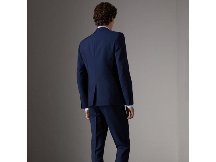 Slim Fit Wool Mohair Part-canvas Suit in Royal Navy - Men | Burberry - cell image 1