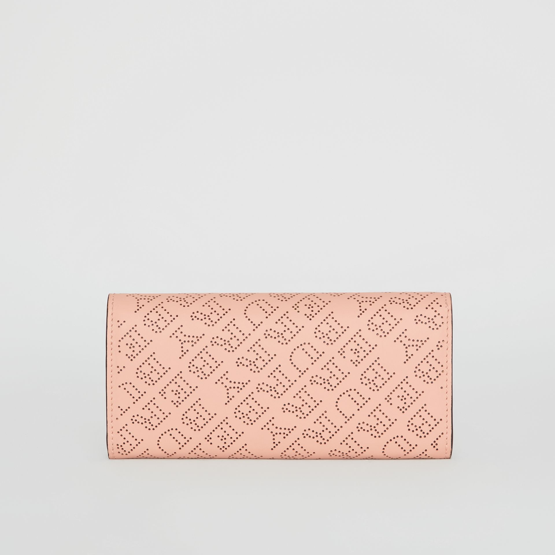 Perforated Logo Leather Continental Wallet in Pale Fawn Pink - Women | Burberry Australia - gallery image 2