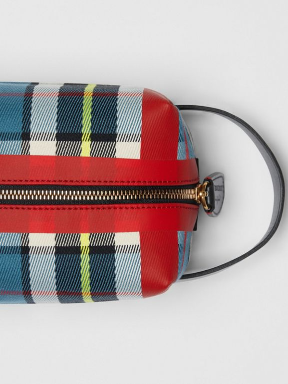 Tartan Cotton Pouch in Blue | Burberry - cell image 1