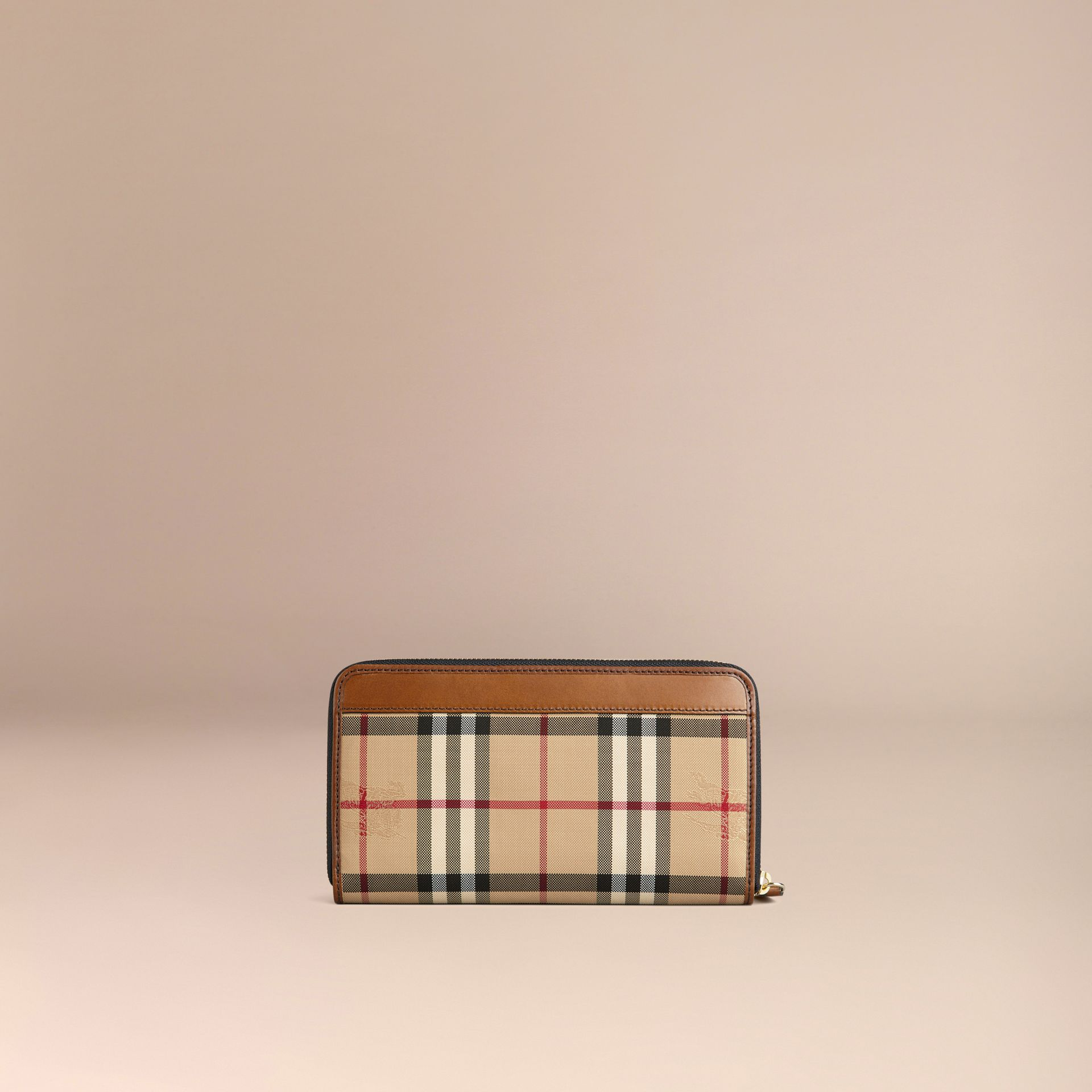 Tan Horseferry Check Ziparound Wallet Tan - gallery image 3