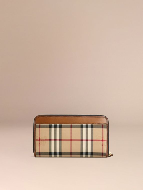 Horseferry Check Ziparound Wallet Tan - cell image 2