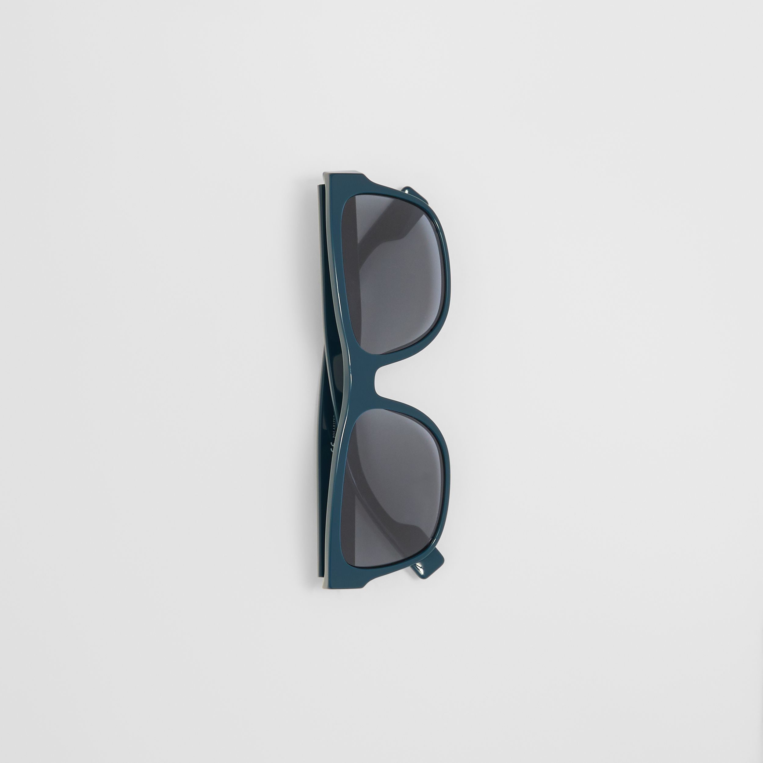 Logo Appliqué Square Frame Sunglasses in Deep Blue - Men | Burberry - 4