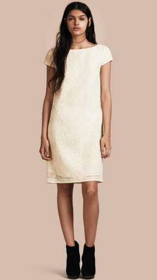 Online Exclusive Italian Lace Shift Dress