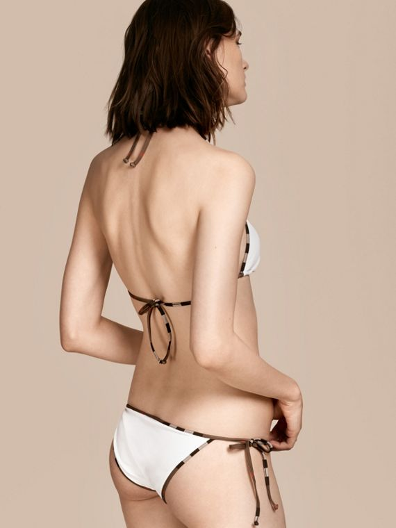 Check Trim Triangle Bikini White - cell image 2