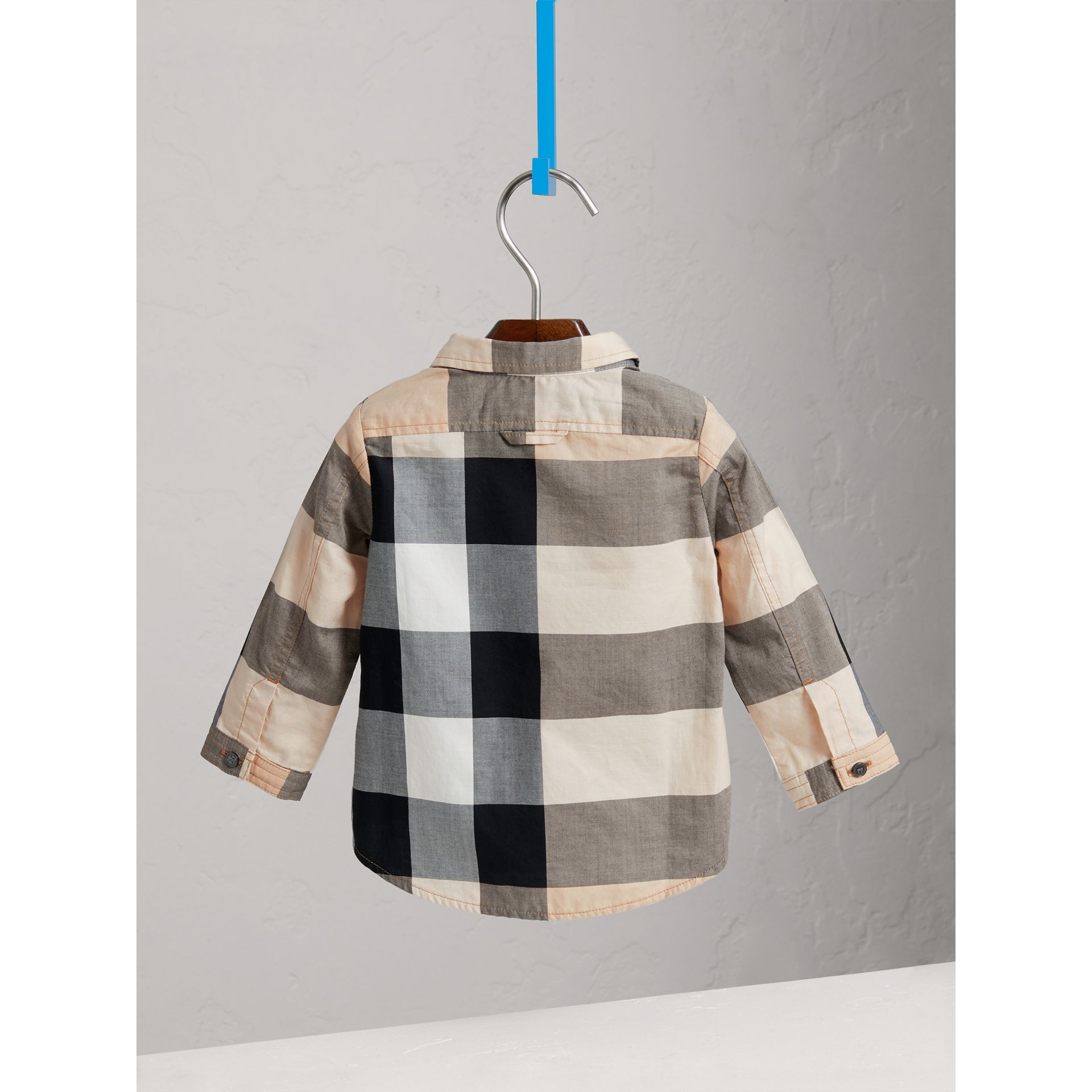 Check Cotton Shirt in New Classic - Boy | Burberry United Kingdom - gallery image 3