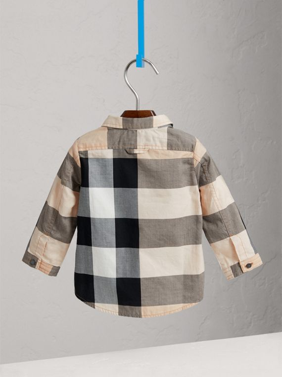 Check Cotton Shirt in New Classic - Boy | Burberry United Kingdom - cell image 3