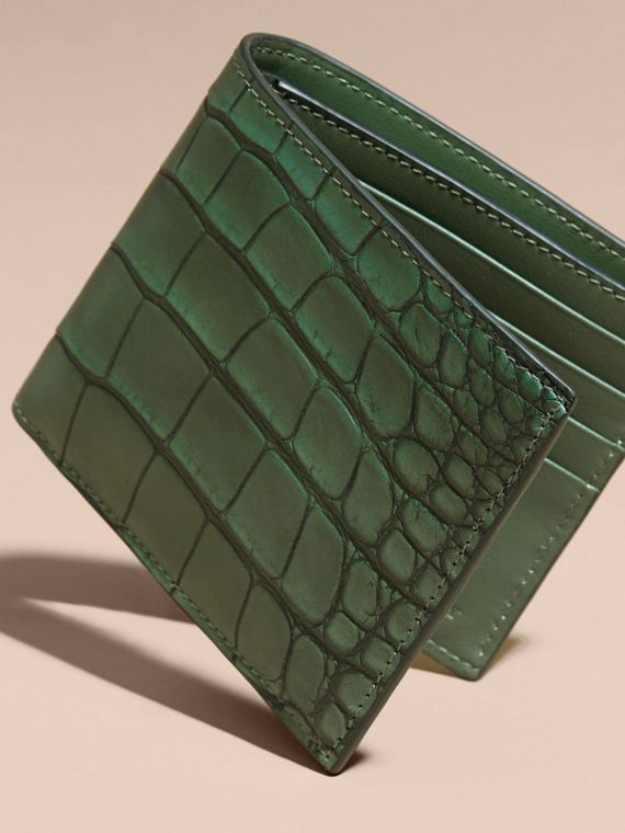 Alligator and Leather International Bifold Wallet - cell image 2