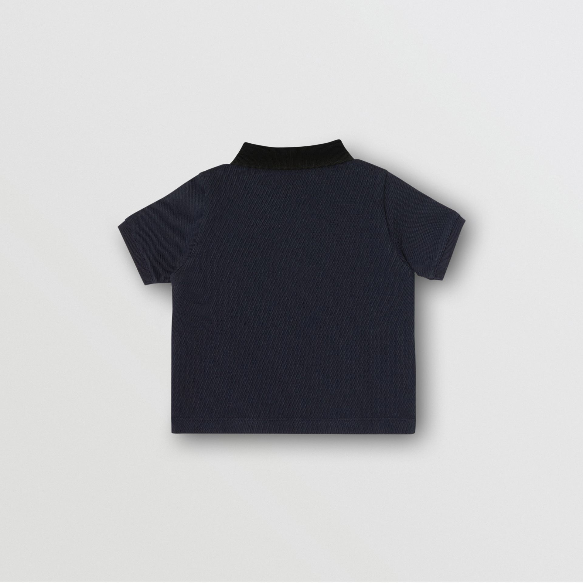 Vintage Check Panel Cotton Polo Shirt in Navy - Children | Burberry - gallery image 2