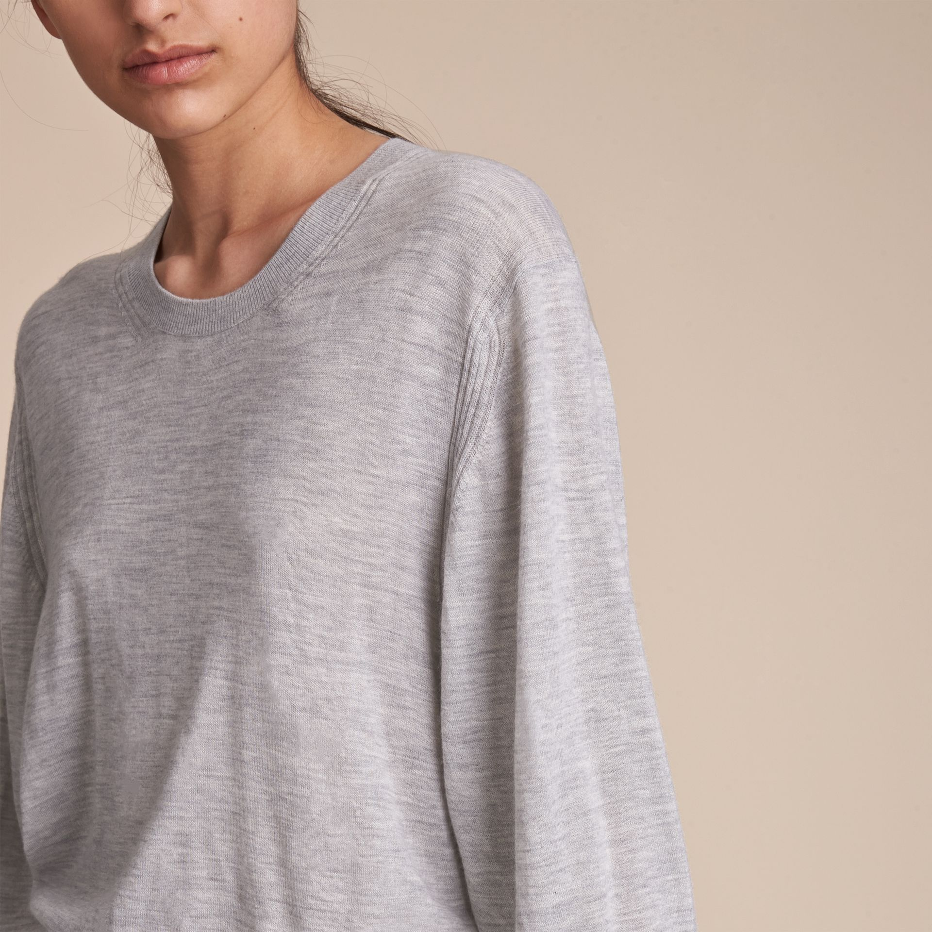 Crew Neck Cashmere Sweater - Women | Burberry - gallery image 3