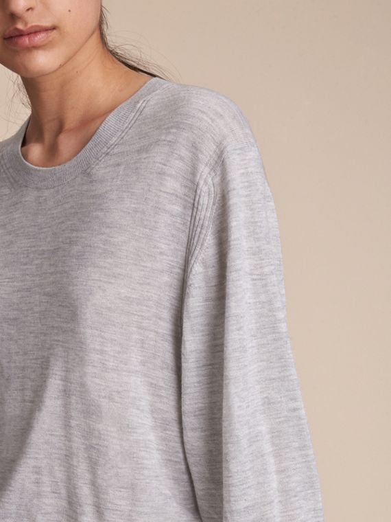Crew Neck Cashmere Sweater - Women | Burberry - cell image 2