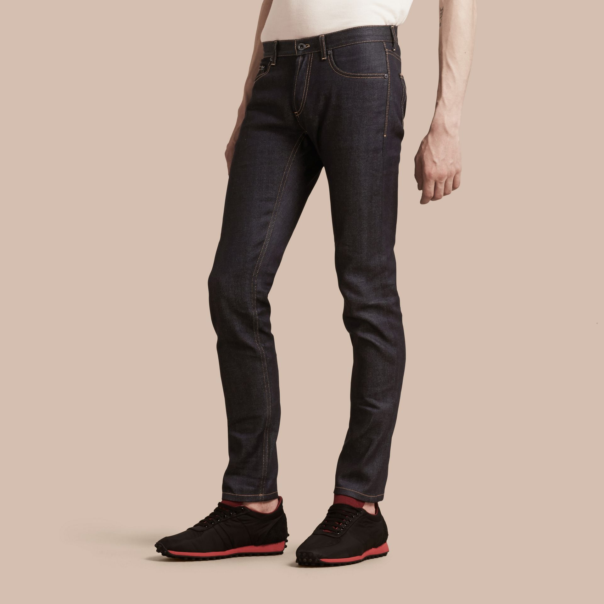 Indigo Slim Fit Japanese Denim Jeans Indigo - gallery image 4