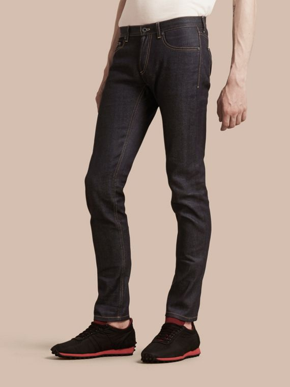 Indigo Slim Fit Japanese Denim Jeans Indigo - cell image 3