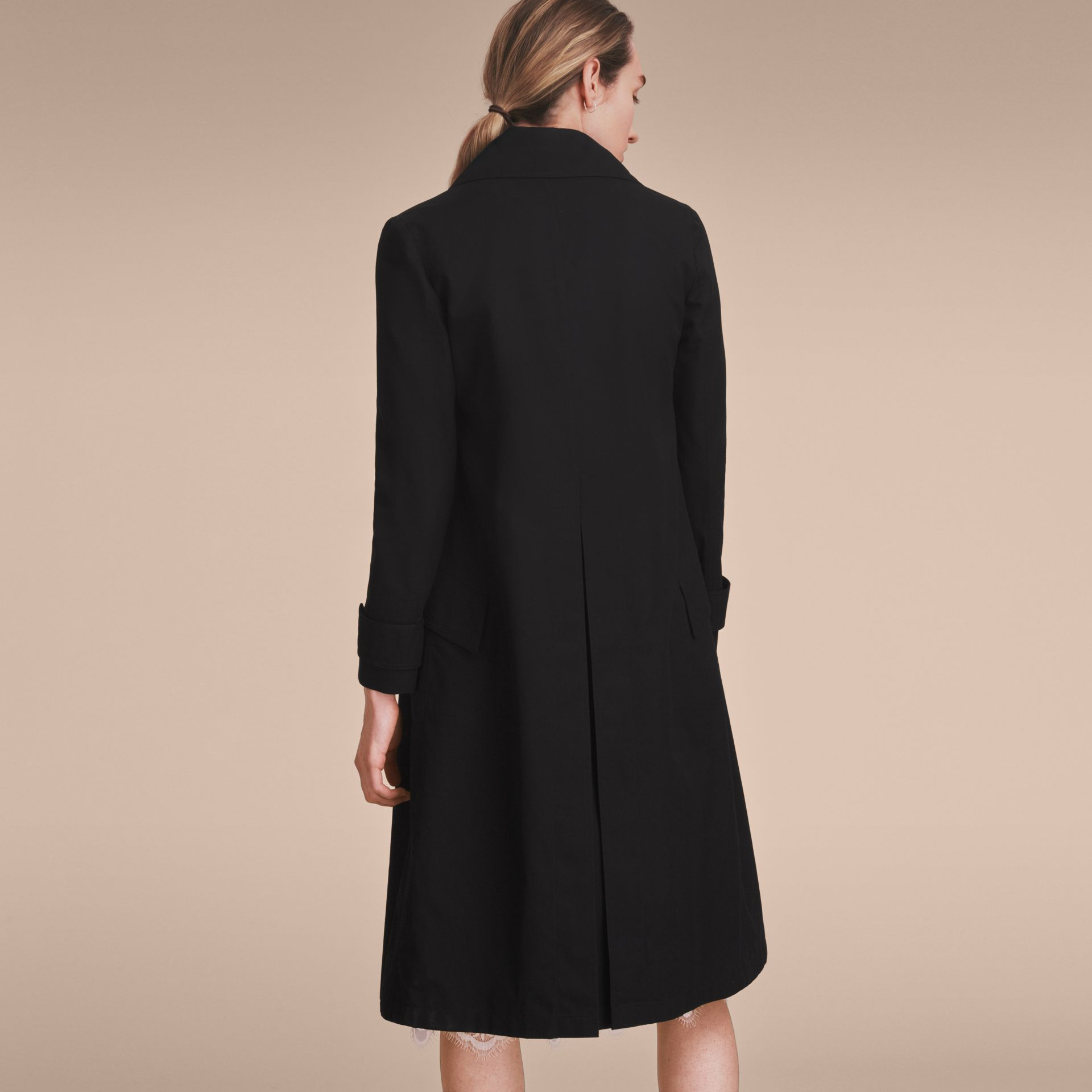 Cotton Gabardine Coat with Curved Closure - Women | Burberry - gallery image 3
