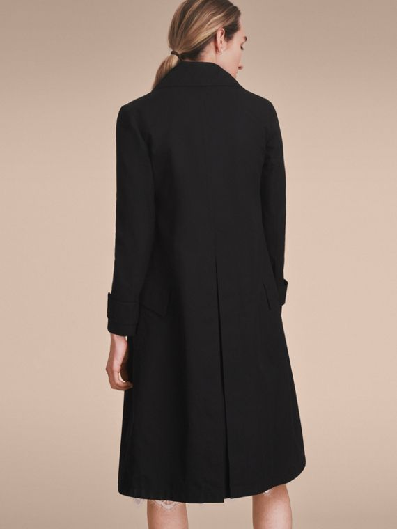 Cotton Gabardine Coat with Curved Closure - Women | Burberry - cell image 2