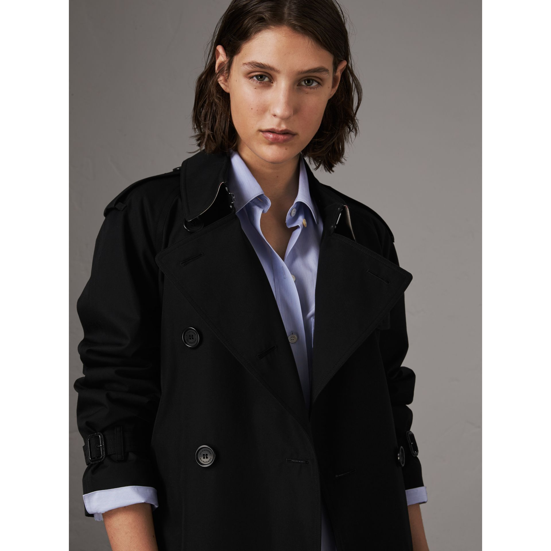 The Westminster – Extra-long Trench Coat in Black - Women | Burberry United Kingdom - gallery image 5