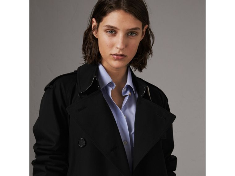 The Westminster – Extra-long Trench Coat in Black - Women | Burberry United Kingdom - cell image 4