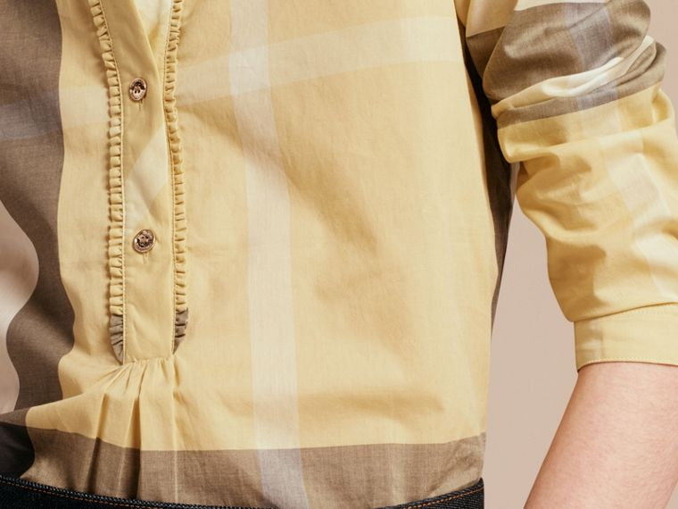 Camomile yellow Check Cotton Tunic Shirt - cell image 4