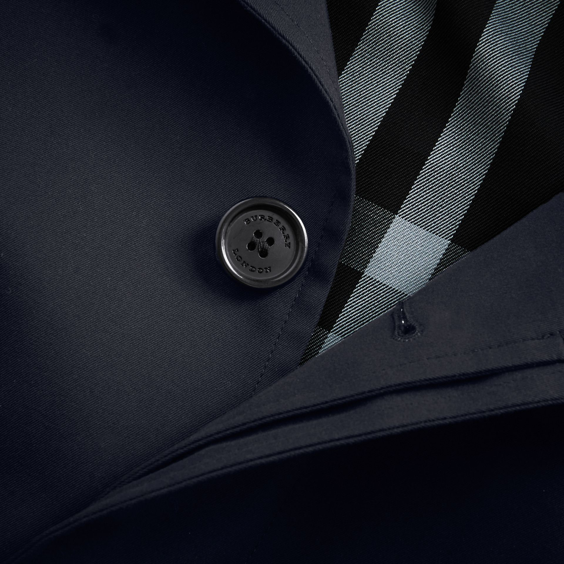Cotton Gabardine Car Coat in Navy - Men | Burberry - gallery image 2