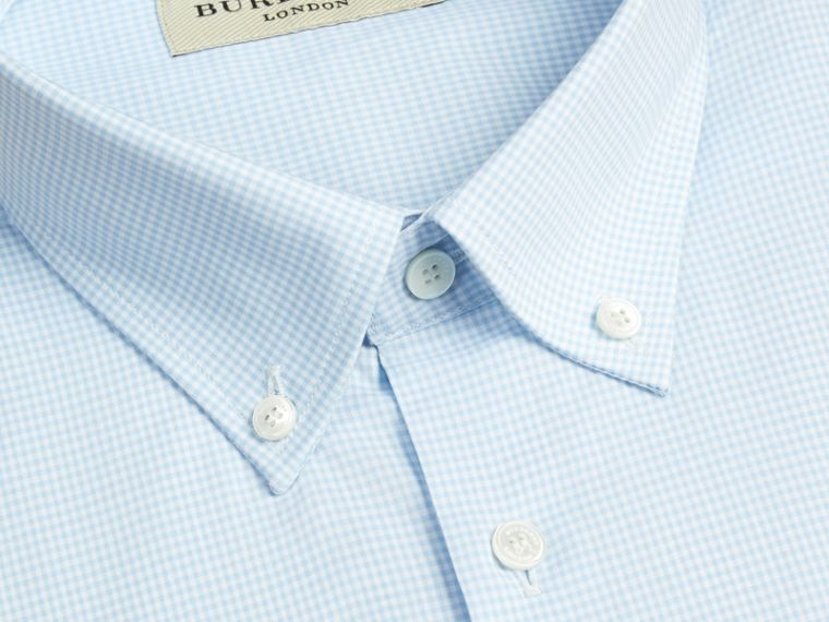 City blue Modern Fit Button-down Collar Gingham Cotton Shirt City Blue - cell image 1