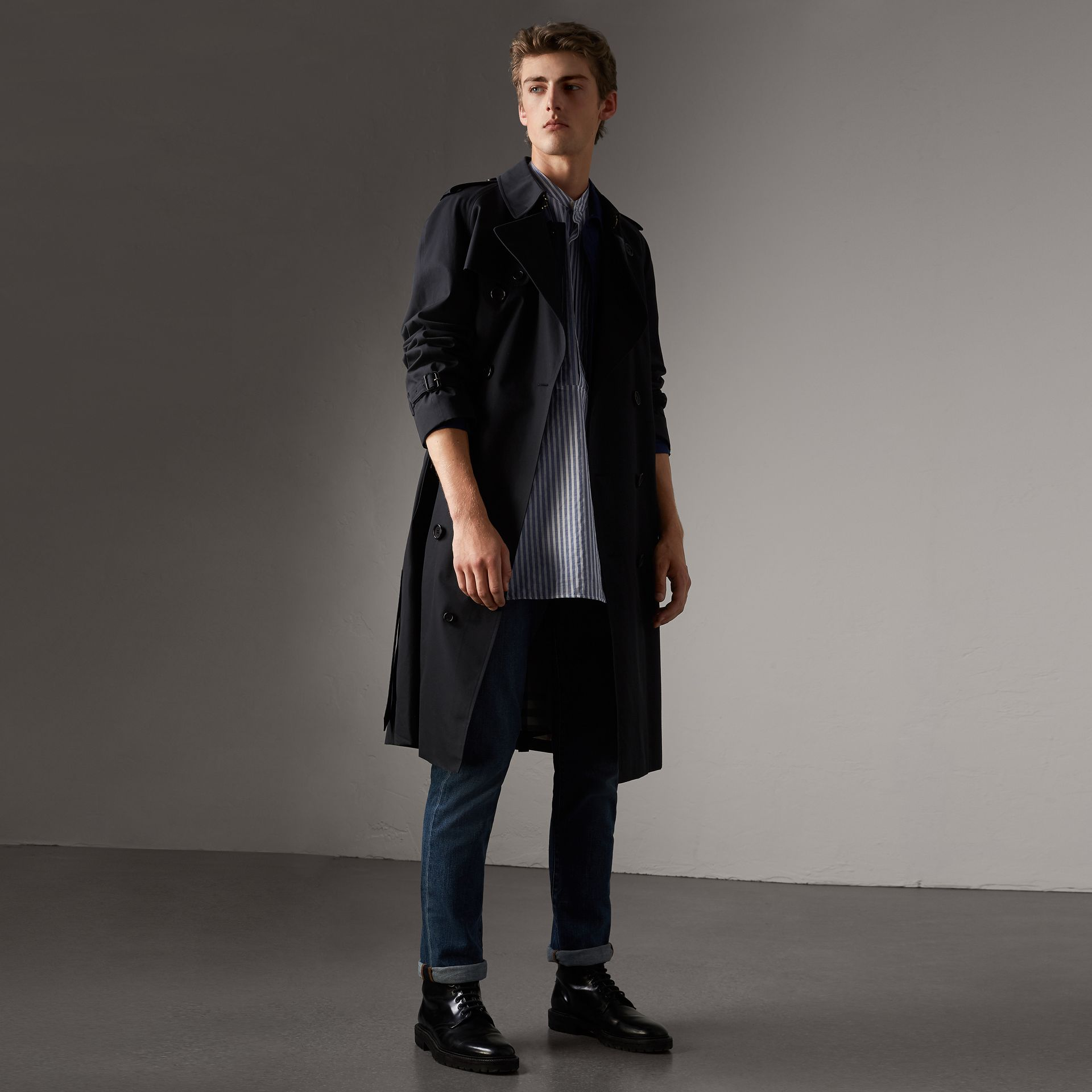 The Westminster – Extra-long Trench Coat in Navy - Men | Burberry - gallery image 0