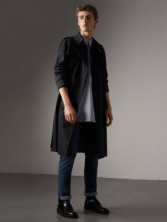 The Westminster - Trench coat extralongo (Azul Marinho)