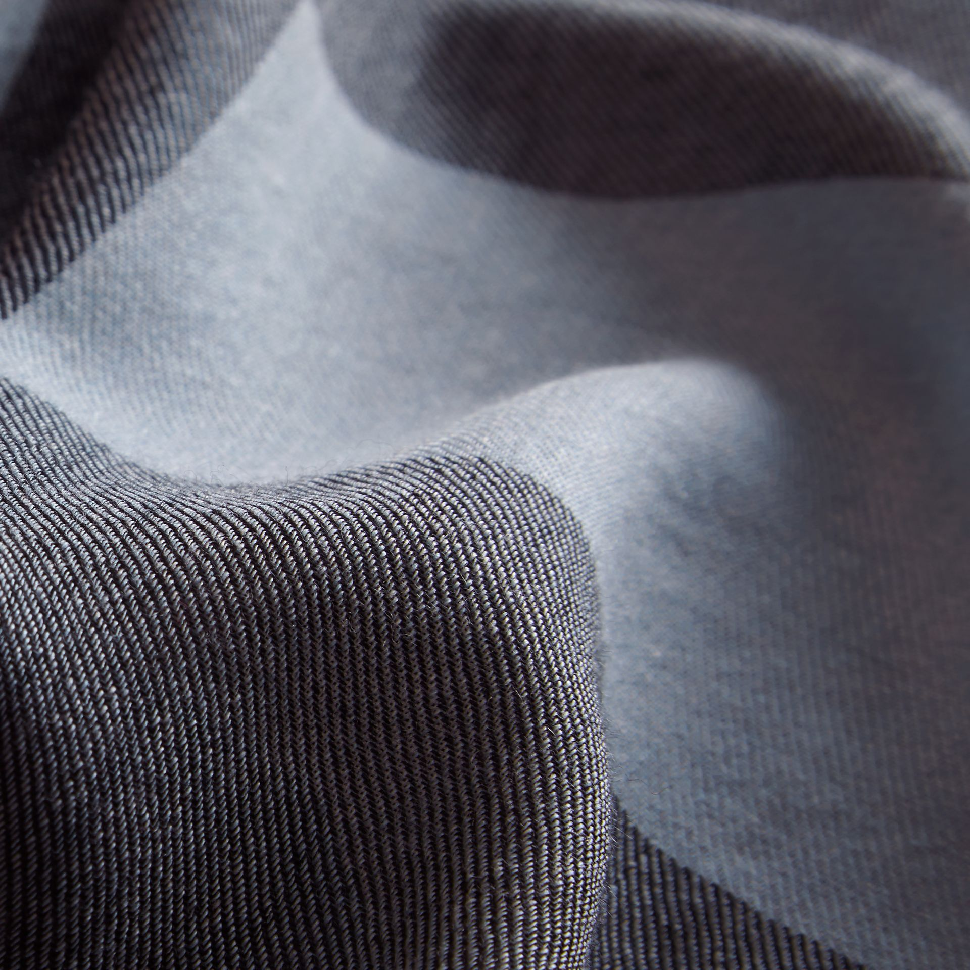 The Lightweight Cashmere Scarf in Ombré Check in Pale Bluebell | Burberry - gallery image 5