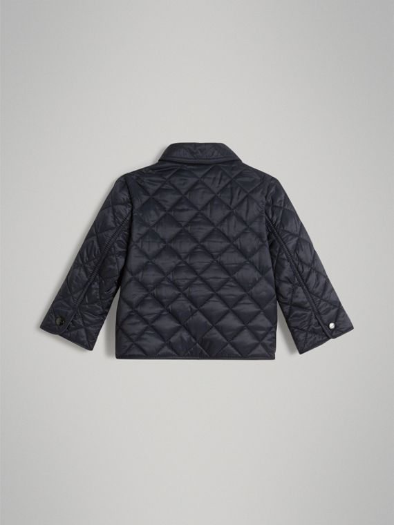 Lightweight Diamond Quilted Jacket in Ink | Burberry - cell image 2