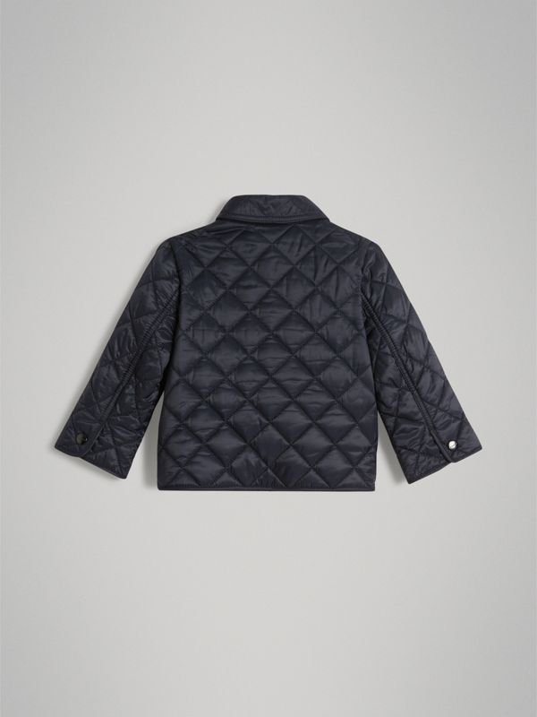 Lightweight Diamond Quilted Jacket in Ink - Children | Burberry United Kingdom - cell image 3