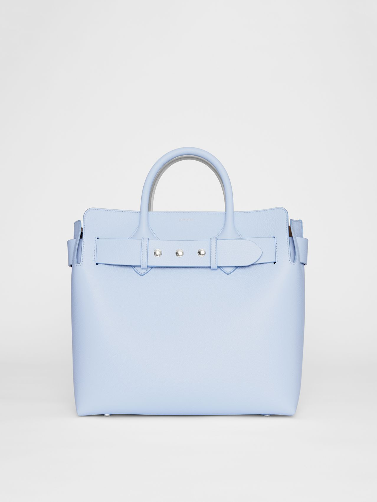 The Medium Leather Triple Stud Belt Bag in Pale Blue