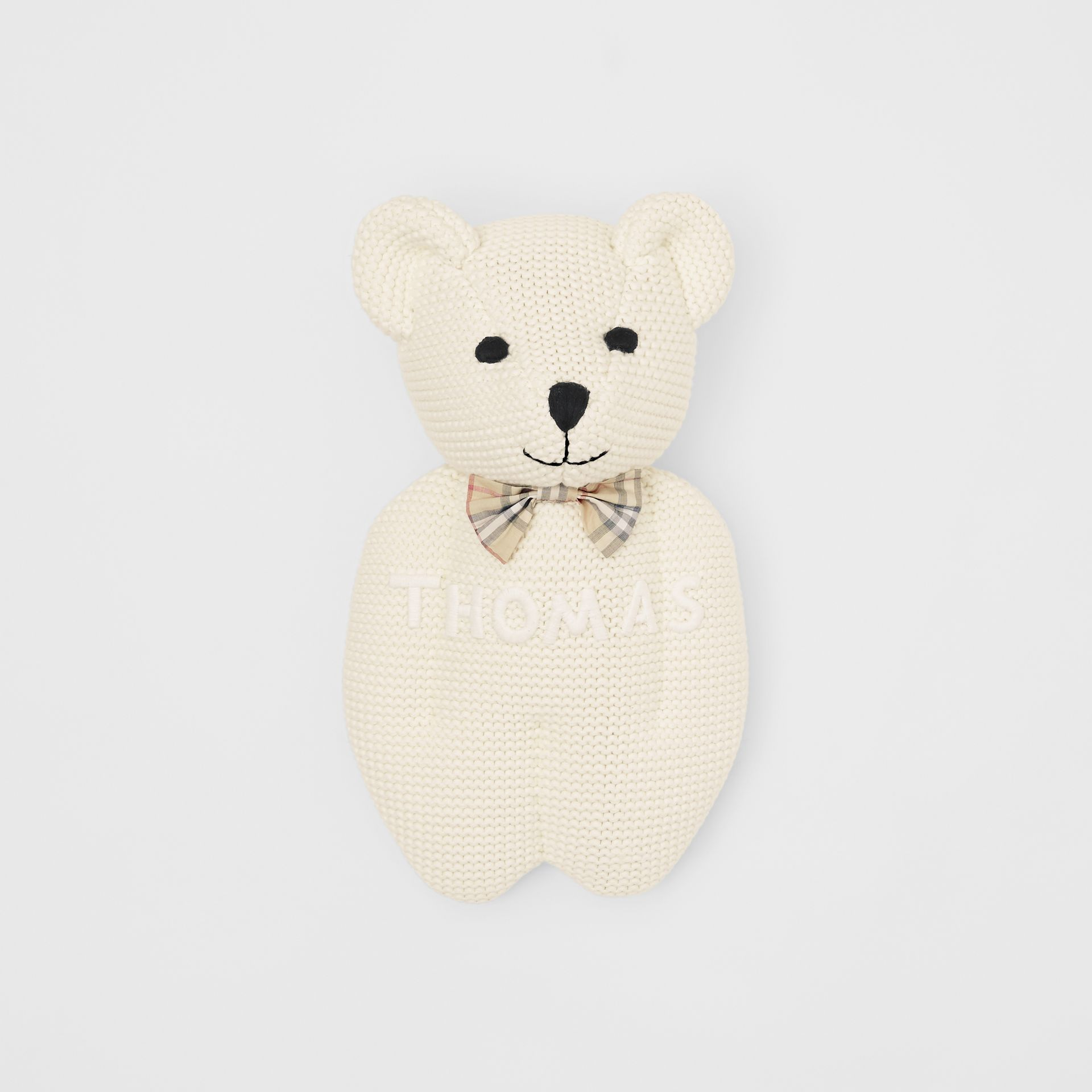 Cotton Cashmere Thomas Bear in Ivory - Children | Burberry United Kingdom - gallery image 0