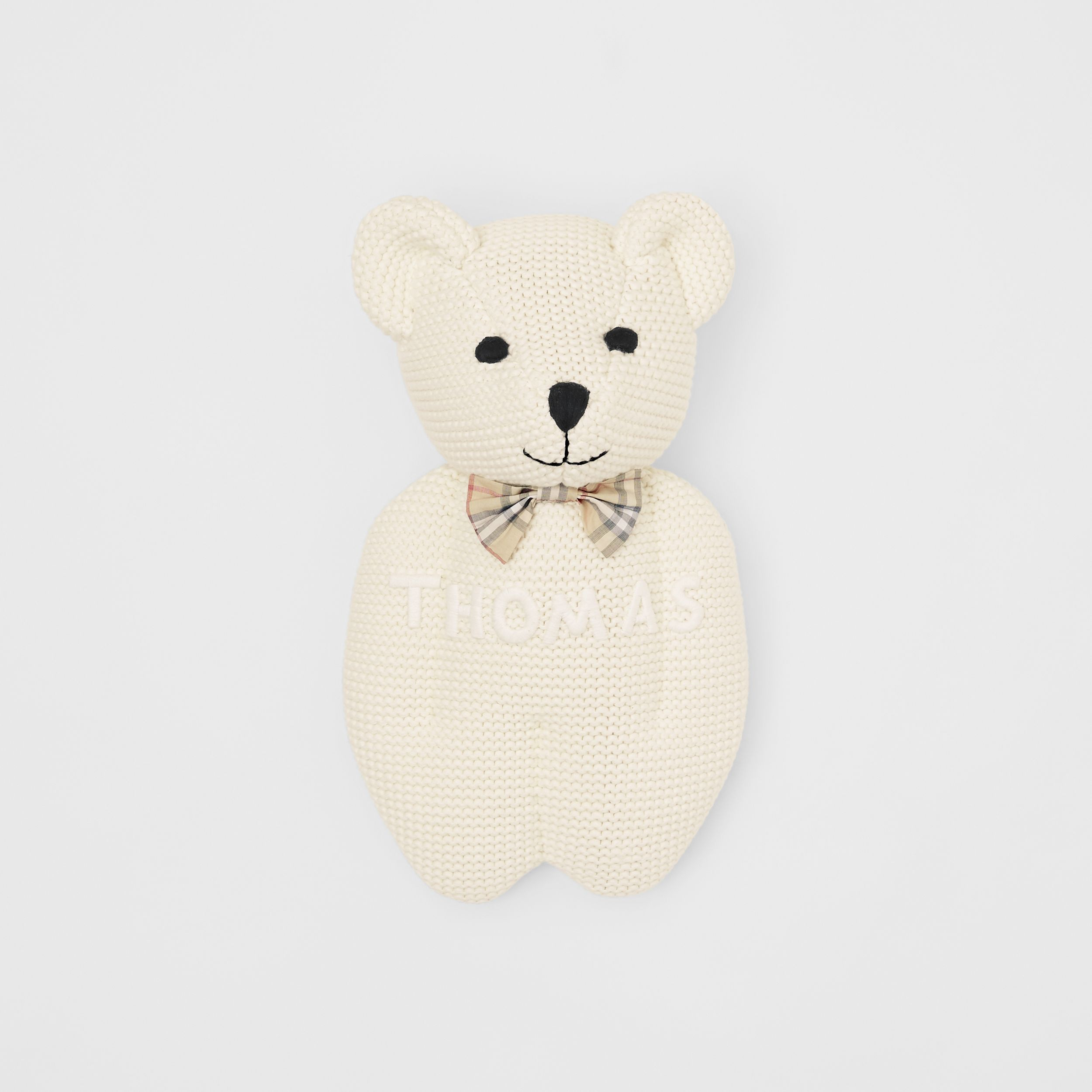 Cotton Cashmere Thomas Bear in Ivory | Burberry Canada - 1