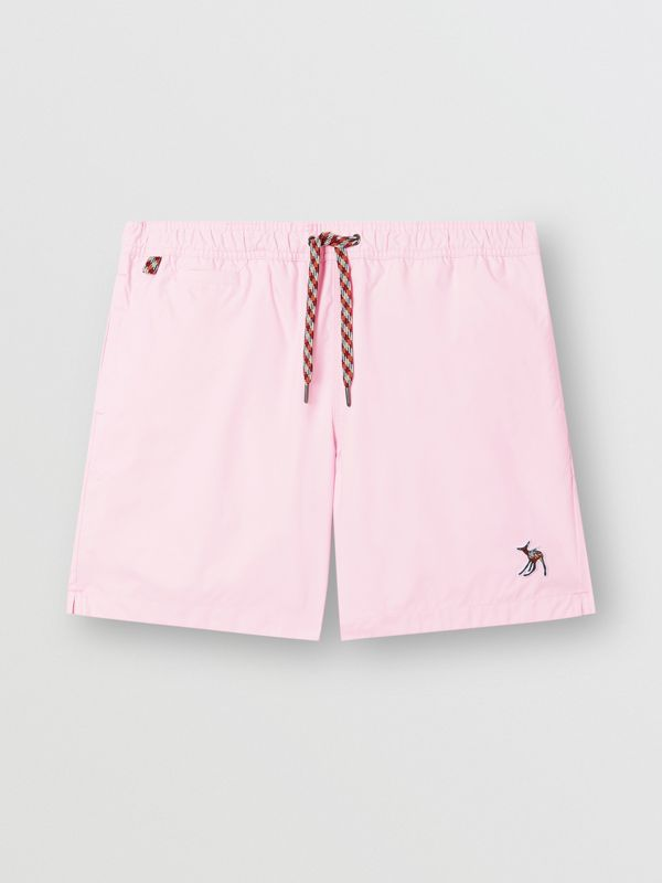 Deer Appliqué Drawcord Swim Shorts in Alabaster Pink - Men | Burberry - cell image 2